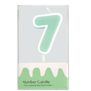 """Number Candle """"7"""""""